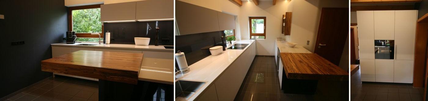 Küche weiß dunkel verkleinert Kombination