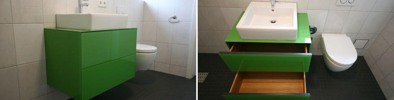 Wasctisch grün Kombiniert